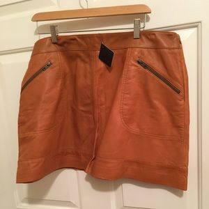NWT AUTHENTIC HALOGEN LEATHER MINI SKIRT
